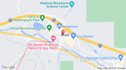 The Christie Lodge - All Suite Property, Vail Valley/Beaver Creek Map