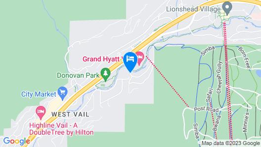 Vail Residences at Cascade Village, a Destination by Hyatt Residence Map