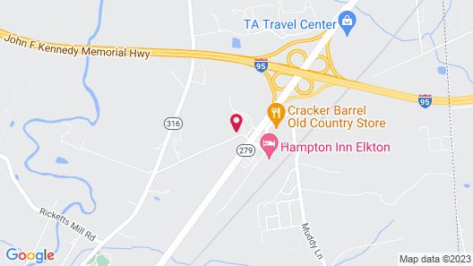 Motel 6 Elkton, MD Map