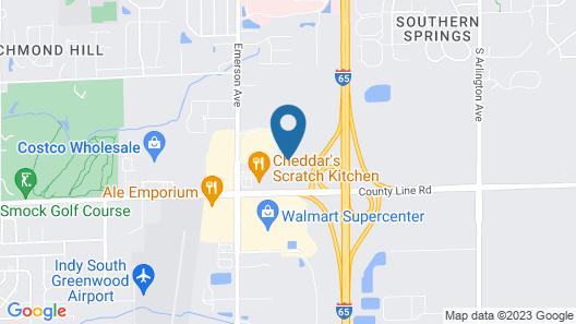 Hilton Garden Inn Indianapolis South/Greenwood Map