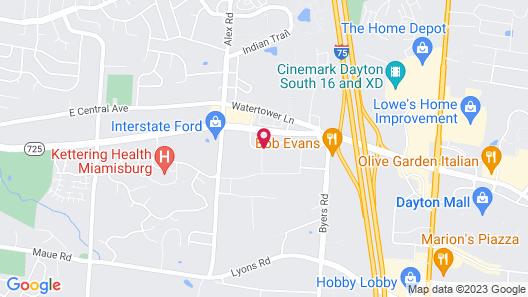 Super 8 by Wyndham Miamisburg Dayton S Area OH Map