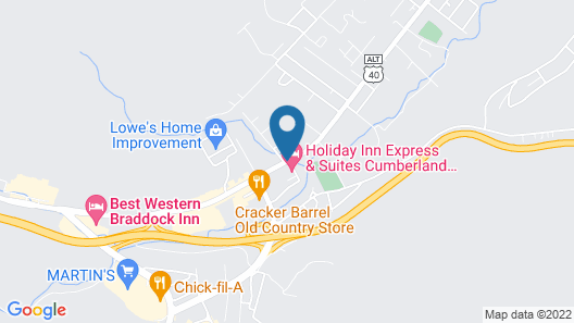 Holiday Inn Express & Suites La Vale - Cumberland, an IHG Hotel Map