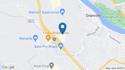Hampton Inn & Suites Morgantown / University Town Centre Map