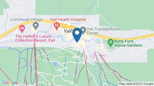 The Lodge at Vail, A RockResort Map