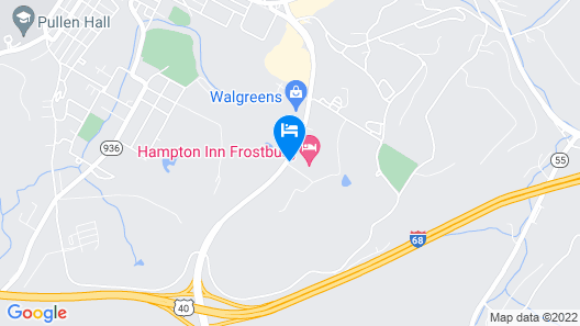 Hampton Inn Frostburg Map