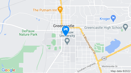Inn at DePauw Map