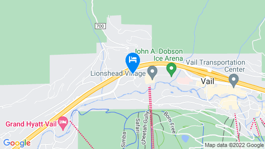 Luxury Modern In Lionshead With Slopeside Ski Valet 3 Bedroom Condo Map