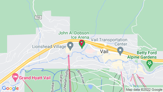 Vail International Condominiums Map