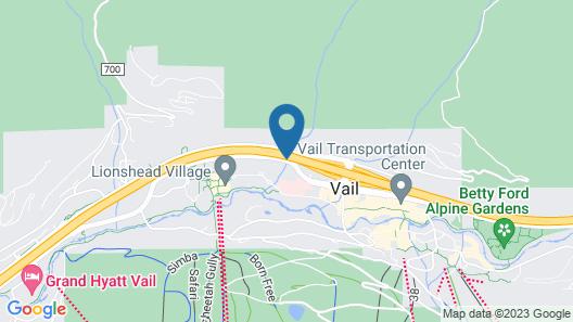 Evergreen Lodge at Vail Map