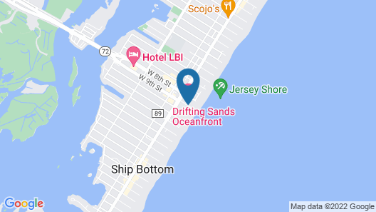 Drifting Sands Oceanfront Hotel Map