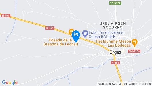 La Rosaleda de Orgaz Map