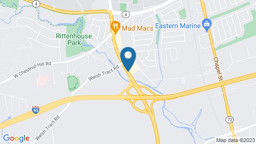 Rodeway Inn University Map