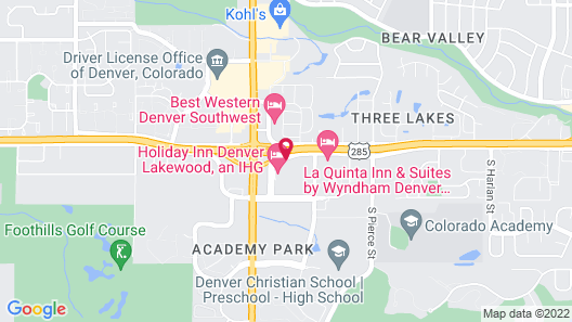 Holiday Inn Denver Lakewood, an IHG Hotel Map