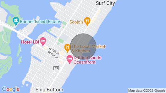 Surf City Home w/ Wrap Around Deck , 30min Atlantic City Map