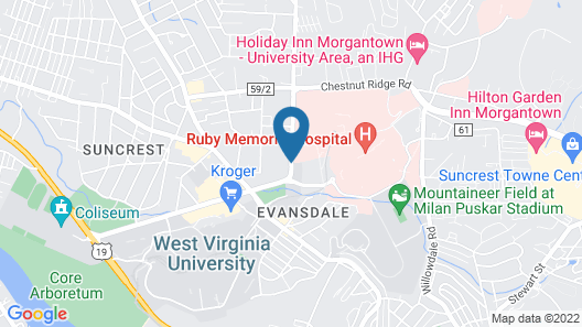 Hampton Inn Morgantown Map