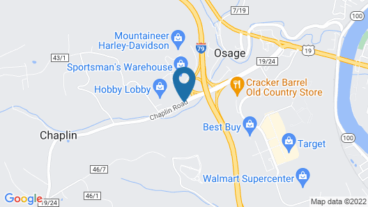 Candlewood Suites Morgantown-Univ West Virginia Map