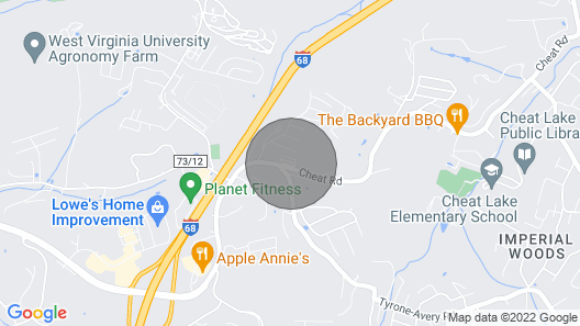 Located in the Cheat Lake Area. Minutes to I-68 & Approx 6 Miles to WVU Campus Map