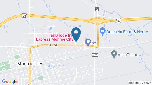 FairBridge Inn Express, Monroe City Map