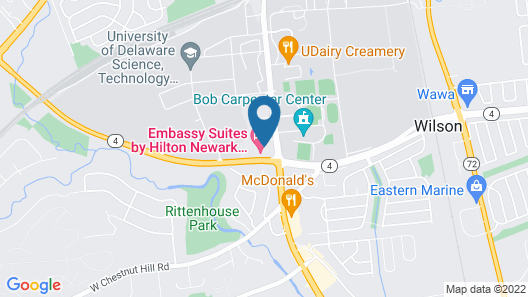 Embassy Suites Newark - Wilmington/South Map