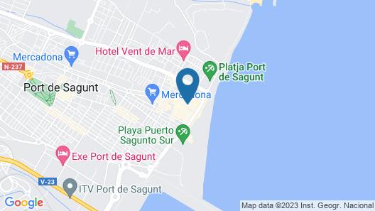 ApartUP Sagunto Beach Map