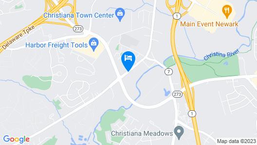 Four Points by Sheraton Newark Christiana Wilmington Map
