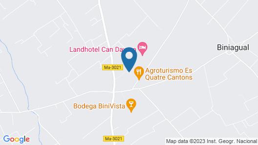 Agroturismo Es Quatre Cantons Map
