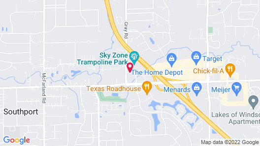 Comfort Suites Southport Map