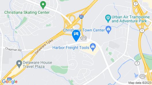 Staybridge Suites Wilmington-Newark Map