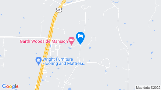 Garth Woodside Mansion Bed and Breakfast Map