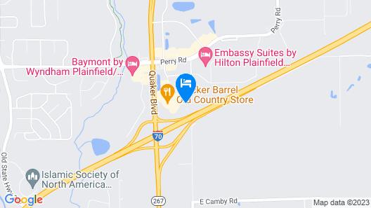 Holiday Inn Express Indianapolis Airport, an IHG Hotel Map