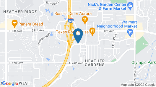Extended Stay America Suites Denver Aurora South Map