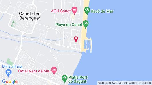 Portocanet Complejo Turístico Map