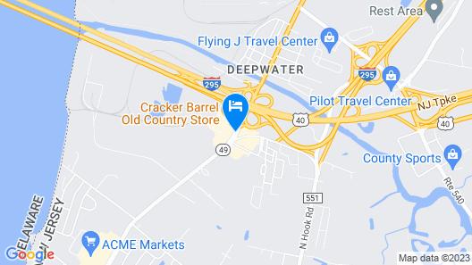 Hampton Inn Pennsville Map