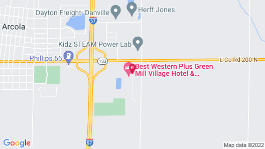 Best Western Plus Green Mill Village Hotel & Suites Map