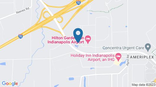 Hampton Inn & Suites Indianapolis-Airport Map