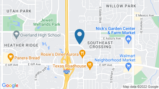 Extended Stay America Suites Denver Aurora North Map