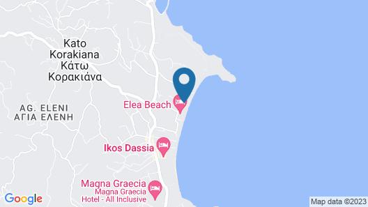 Dassia Beach Map