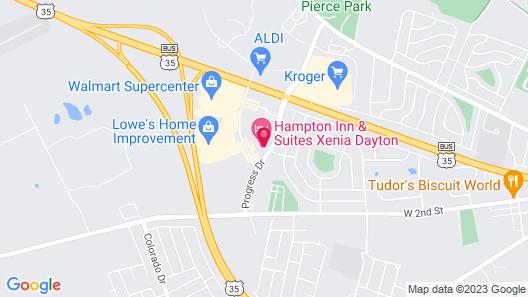 Hampton Inn & Suites Xenia Dayton Map