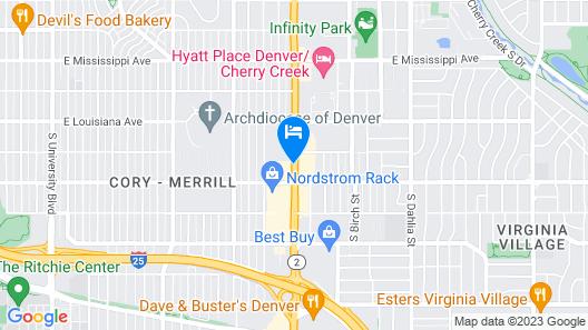 Courtyard by Marriott Denver Cherry Creek Map
