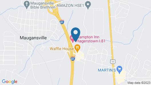 Hampton Inn Hagerstown - Maugansville Map