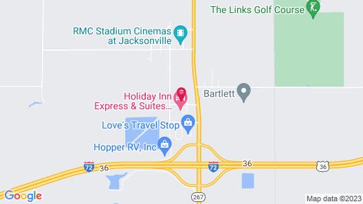 Quality Inn Jacksonville near I-72 Map