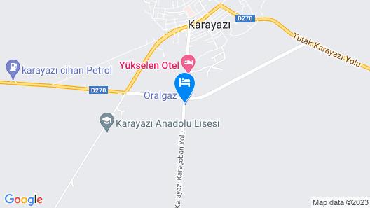Yukselen Otel Map