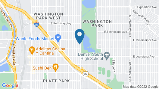 Welcome to Your Wash Park Bungalo! Map