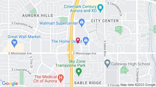 Quality Inn Aurora Denver Map