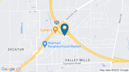 Country Inn & Suites by Radisson, Indianapolis Airport South, IN Map
