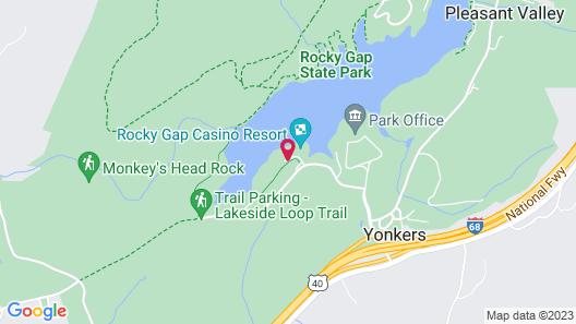 Rocky Gap Casino & Resort Map