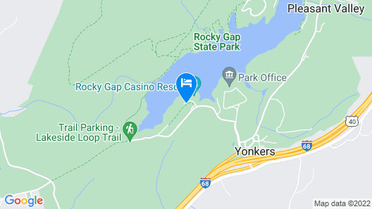 Rocky Gap Casino & Resort Map