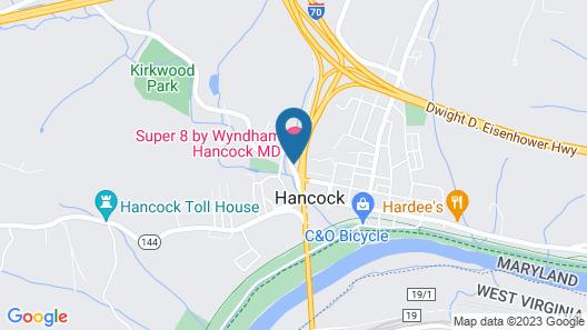 Super 8 by Wyndham Hancock MD Map
