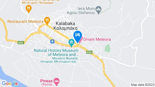 Divani Meteora Hotel Map