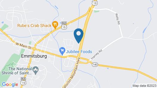 Sleep Inn & Suites Emmitsburg Map